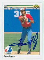 Tom Foley AUTOGRAPH 1990 Upper Deck Expos 