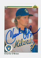 Charlie O'Brien AUTOGRAPH 1990 Upper Deck Brewers 