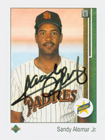 Sandy Alomar Jr. AUTOGRAPH 1989 Upper Deck Padres 