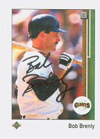 Bob Brenly AUTOGRAPH 1989 Upper Deck Giants 