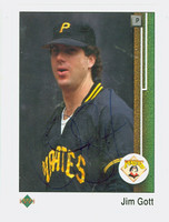 Jim Gott AUTOGRAPH 1989 Upper Deck Pirates 