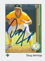 Doug Jennings AUTOGRAPH 1989 Upper Deck Athletics 