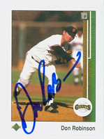Don Robinson AUTOGRAPH 1989 Upper Deck Giants 