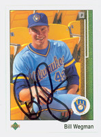 Bill Wegman AUTOGRAPH 1989 Upper Deck Brewers 