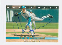 Chris Hammond AUTOGRAPH 1993 Upper Deck Marlins 
