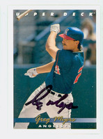 Greg Myers AUTOGRAPH 1993 Upper Deck Angels 