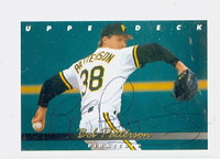 Bob Patterson AUTOGRAPH 1993 Upper Deck Pirates 
