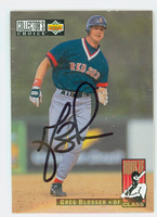 Greg Blosser AUTOGRAPH 1994 Upper Deck Rookie Class Red Sox 