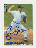 Sean Bergman AUTOGRAPH 1995 Upper Deck Collectors Choice Tigers 