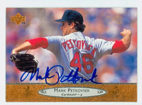 Mark Petkovsek AUTOGRAPH 1996 Upper Deck Cardinals 
