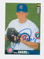 Terry Adams AUTOGRAPH 1997 Upper Deck Collectors Choice Cubs 