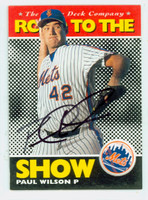 Paul Wilson AUTOGRAPH 1995 Upper Deck Road to the Show St Lucie Mets 