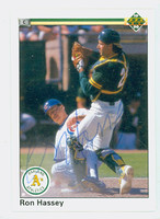 Ron Hassey AUTOGRAPH 1990 Upper Deck Athletics 