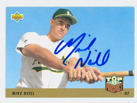 Mike Neill AUTOGRAPH 1993 Upper Deck Top Prospect Athletics 