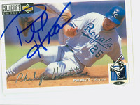 Phil Hiatt AUTOGRAPH 1994 Upper Deck Collectors Choice Royals 