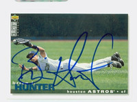Brian Hunter AUTOGRAPH 1995 Upper Deck Collectors Choice Astros 