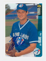 Jeff Ware AUTOGRAPH 1996 Upper Deck Collectors Choice Blue Jays 