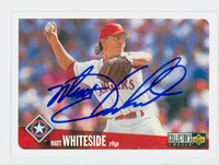 Matt Whiteside AUTOGRAPH 1996 Upper Deck Collectors Choice Rangers 