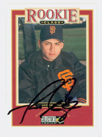 Jacob Cruz AUTOGRAPH 1997 Upper Deck Collectors Choice Rookie Class Giants 