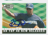 Bill Hall AUTOGRAPH 2002 Upper Deck 40 Man New Releases Brewers 