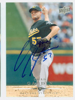 Chad Gaudin AUTOGRAPH 2008 Upper Deck Athletics 