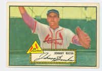 1952 Topps Baseball 19 Johnny Bucha St. Louis Cardinals Very Good Black Back