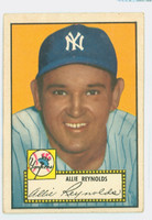 1952 Topps Baseball 67 Allie Reynolds New York Yankees Very Good to Excellent Black Back