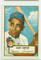 1952 Topps Baseball 193 Harry Simpson Cleveland Indians Very Good to Excellent
