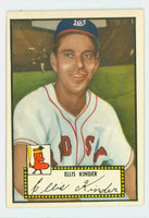 1952 Topps Baseball 78 Ellis Kinder Boston Red Sox Excellent Black Back
