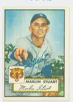 1952 Topps Baseball 208 Marlin Stuart Detroit Tigers Excellent to Excellent Plus