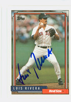 Luis Rivera AUTOGRAPH 1992 Topps Red Sox 