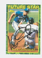 Alex Gonzalez AUTOGRAPH 1994 Topps Future Star Blue Jays 