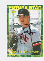 Justin Thompson AUTOGRAPH 1994 Topps Future Star Tigers 
