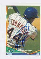 Ryan Thompson AUTOGRAPH 1994 Topps Mets 