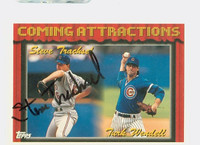 Steve Trachsel AUTOGRAPH 1994 Topps Coming Attractions Cubs 