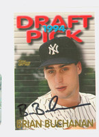 Brian Buchanan AUTOGRAPH 1995 Topps Draft Pick Yankees 