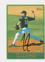 Todd Jones AUTOGRAPH 1997 Topps Astros 
