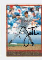 Justin Thompson AUTOGRAPH 1997 Topps Tigers 