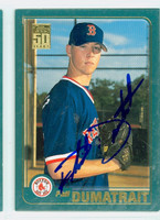 Phil Dumatrait AUTOGRAPH 2001 Topps Traded Red Sox 