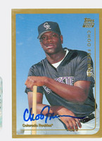 Choo Freeman AUTOGRAPH 1999 Topps Traded Rockies 