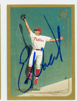 Eric Valent AUTOGRAPH 1999 Topps Traded Phillies 