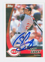Sean Casey AUTOGRAPH 2002 Topps POST CEREAL Reds 