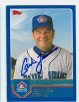Carlos Tosca AUTOGRAPH 2003 Topps Blue Jays 