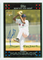 Devern Hansack AUTOGRAPH 2007 Topps Scarcer Red Back Red Sox 