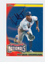 Nyjer Morgan AUTOGRAPH 2010 Topps Nationals 
