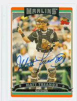 Matt Treanor AUTOGRAPH 2006 Topps Marlins 