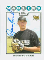 Ryan Tucker AUTOGRAPH 2008 Topps Marlins 