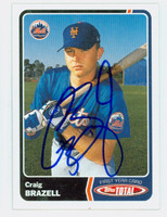 Craig Brazell AUTOGRAPH 2003 Topps Total Mets 
