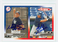 Melky Cabrera DUAL SIGNED 2005 Topps Total Yankees 