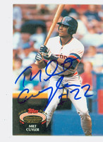 Milt Cuyler AUTOGRAPH 1992 Topps Stadium Club Tigers 
